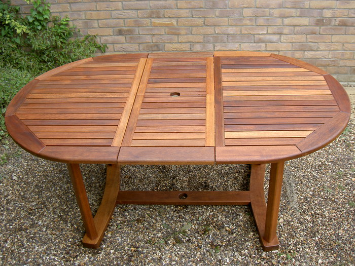 Teak Table coated with Textrol