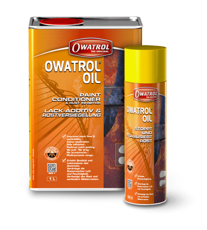 Owatrol Oil is a multi purpose product and one of the most useful items anybody trades person or home owner should have, treats rust, boosts paint adhesion, as a clear interior wood finish, eliminates brush marks