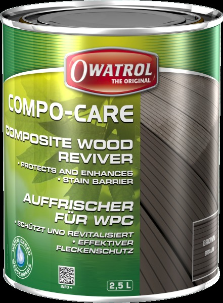 Compo-Care composite wood restorer brown