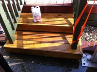 Removal of previously oiled / stained decking oils