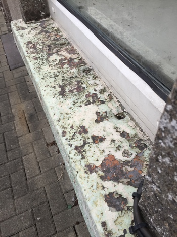 Paint Flaking Off Window Sill,
