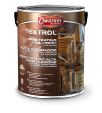 Textrol Clear is a deep penetrating oil for protection of decking, cladding, garden furniture etc. Does not peel or flake.