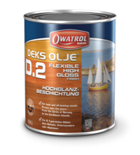 Deks Olje D2 non peel high gloss finish.